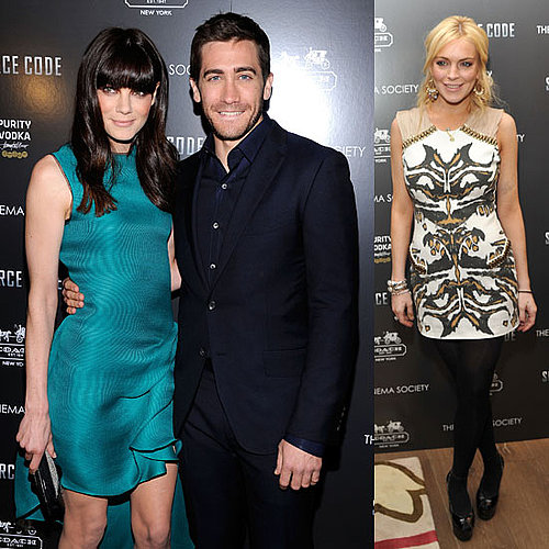 Pictures of Jake Gyllenhaal, Michelle Monaghan, and Lindsay Lohan at Source Code Screening in NYC
