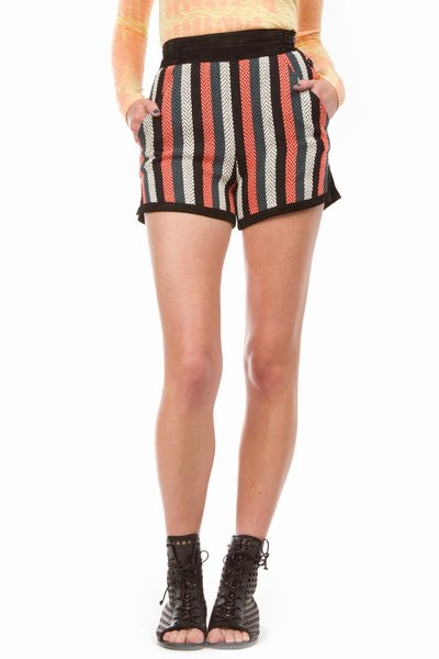 Proenza Schouler Baja Side Button Stripe Short ($925)