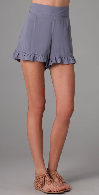 Free People Big Bow Ruffle Shorts ($68)