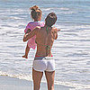 Pictures of Halle Berry in a Bikini With Nahla at the Beach