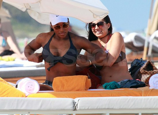 Serena Williams Enjoys Bikini Time and Cocktails on Miami Beach