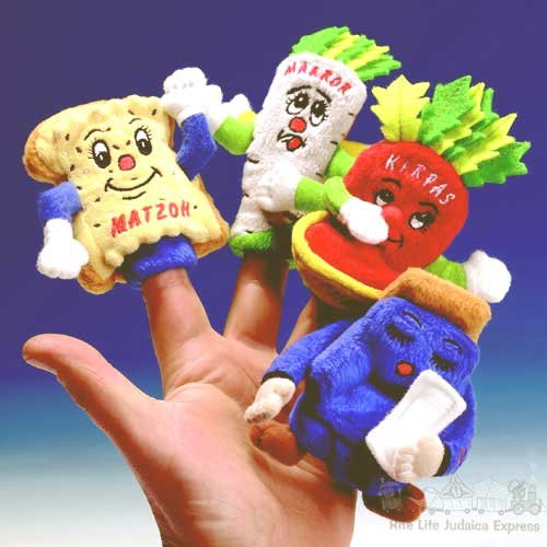 Four Questions Finger Puppets