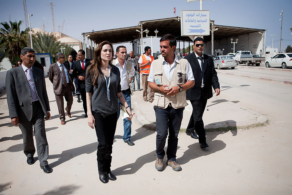 Angelina Tackles UNHCR Duties in Libya and Donates Big Through Jolie-Pitt Foundation