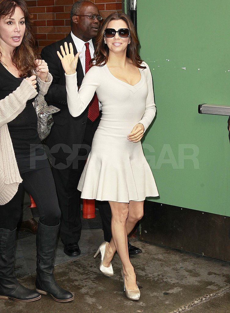Eva Longoria Lets Her Sexy Looks Loose as She Promotes Her Cookbook in NYC