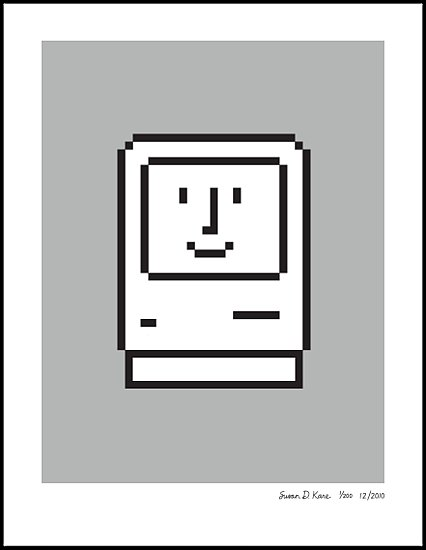 Pixelated Prints by Iconic Iconographer Susan Kare