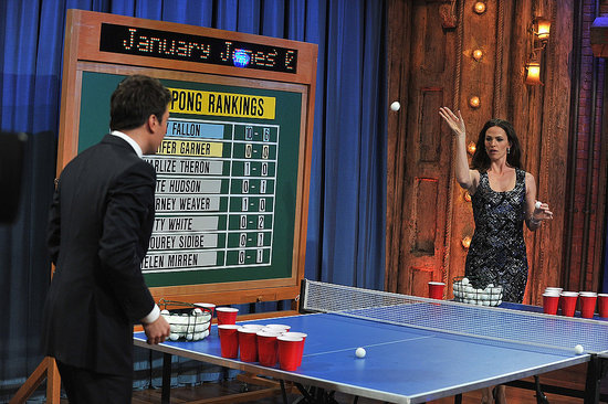 Jennifer Garner Learns Killer Beer Pong Skills From Her Nanny