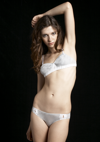 For the honeymoon, consider organic cotton for your bridal lingerie, like this pretty set from Araks (bralette $61, originally $86; brief $44, originally $62)