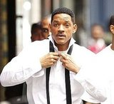 Will Smith Gets Dressed on the Run as He Suits Up For Men in Black 3