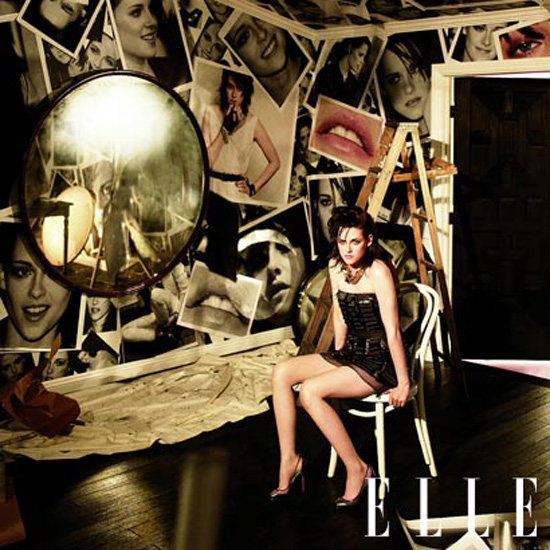 Kristen Stewart showed a lot of leg in the June 2010 issue of Elle.