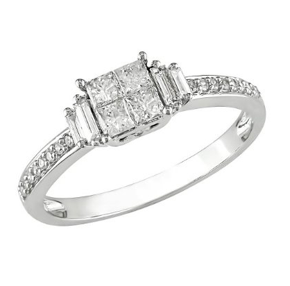 Impressive Target one-half karat diamond ring ($880).
