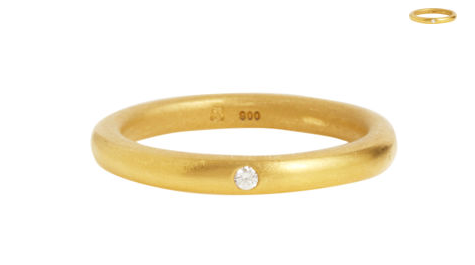 This Linda Lee Johnson ring ($700) is so pure and simple.