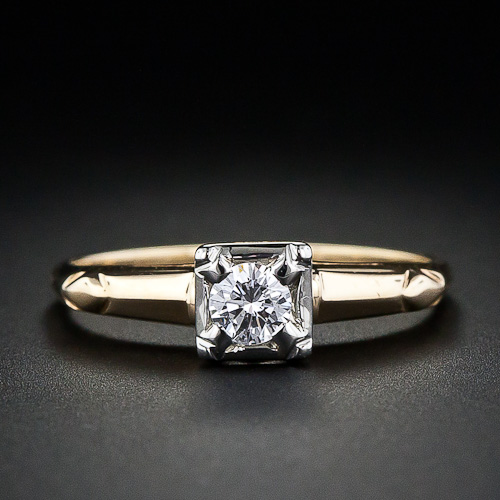 Lang Antiques one-fifth karat diamond ring ($875)