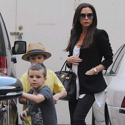 Pictures of Victoria, Romeo, and Cruz Beckham Shopping at Barneys in LA