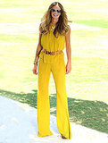 Elle Macpherson gave us peppy, Spring brights in the chicest way possible.