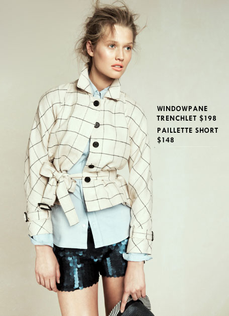 Skip: Windowpane Trenchlet ($198)  Why: The print is fun, and the fit is sweet, but for almost $200, we'd rather spend our cash on the classic trench and find a printed version we can throw on for fun.