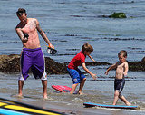 David Beckham Goes Shirtless For a Day at the Beach With His Boys!