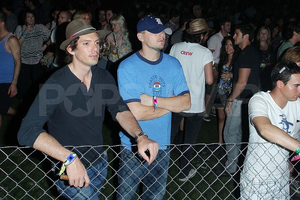 Leonardo DiCaprio and Lukas Haas Join In on the Coachella Fun