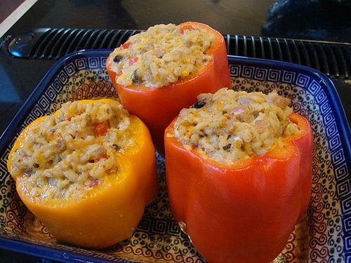 Barley-Stuffed Bell Peppers