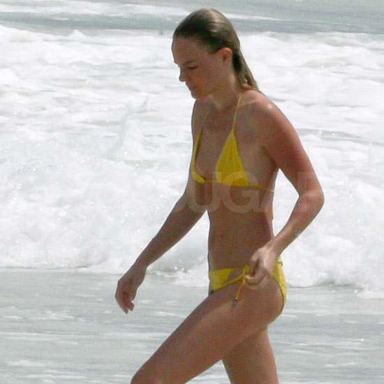 Kate Bosworth Works on Her Tan in a Hot Yellow Bikini