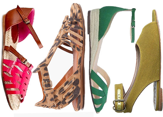 Best Flat Sandals For Spring and Summer 2011