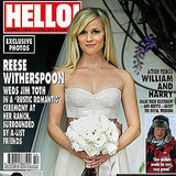 Reese Witherspoon showed off her décolletage in a a corset-style Monique Lhuillier gown for her wedding to Jim Toth at her ranch in Ojai, CA, in March of 2011.
