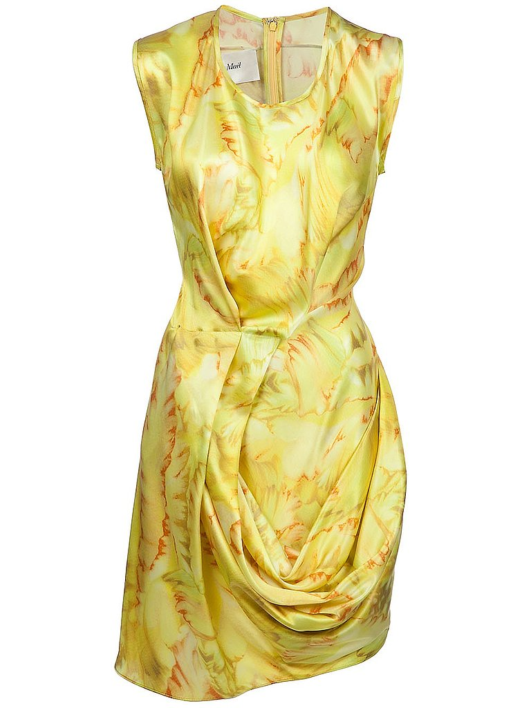 The surest antidote to a gray day is a sunny yellow dress like this elegantly draped Rue du Mail dress ($966). Hint: lower-priced yellow dresses are available from Urban Outfitters ($32) and Twenty8Twelve ($102, originally $340).