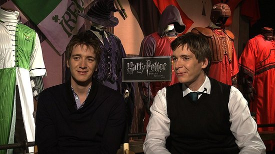 Video: Harry Potter's James and Oliver Phelps (Fred and George!) on Deathly Hallows Battle Scenes