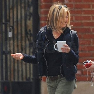 Jennifer Aniston Directs on Set Pictures