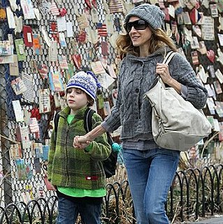 Sarah Jessica Parker and James Wilkie Broderick in NYC