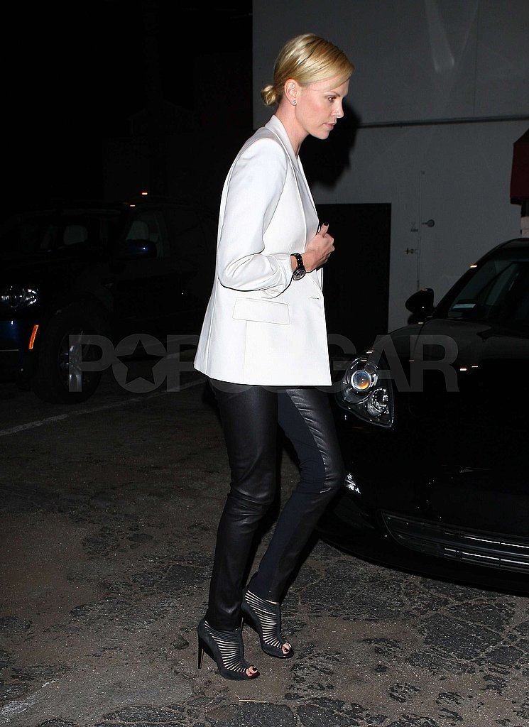 Charlize Goes Clubbing as She Readies to Play a Fairy-Tale Queen