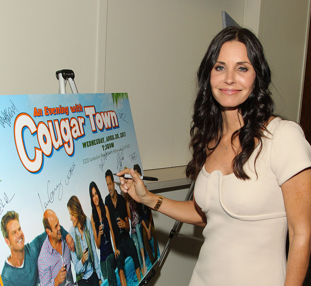 Courteney Cox Returns to Her Cougar Town Crew Josh Hopkins and Busy Philipps