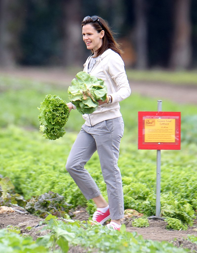 Too Cute — Jennifer Garner Picks Fruits and Vegetables With Violet and Seraphina!