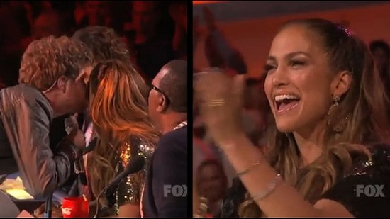 Video: Jennifer Lopez Gets a Kiss From Casey Abrams and Eyes New Reality Show!