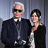 Pictures of Rachel Bilson and Karl Lagerfeld