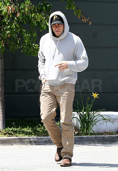 Jake Gyllenhaal Keeps His Bald Head Under Wraps