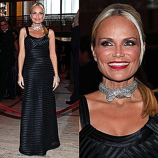 Kristin Chenoweth Wears Black Gown and Choker to Spring Opera Gala