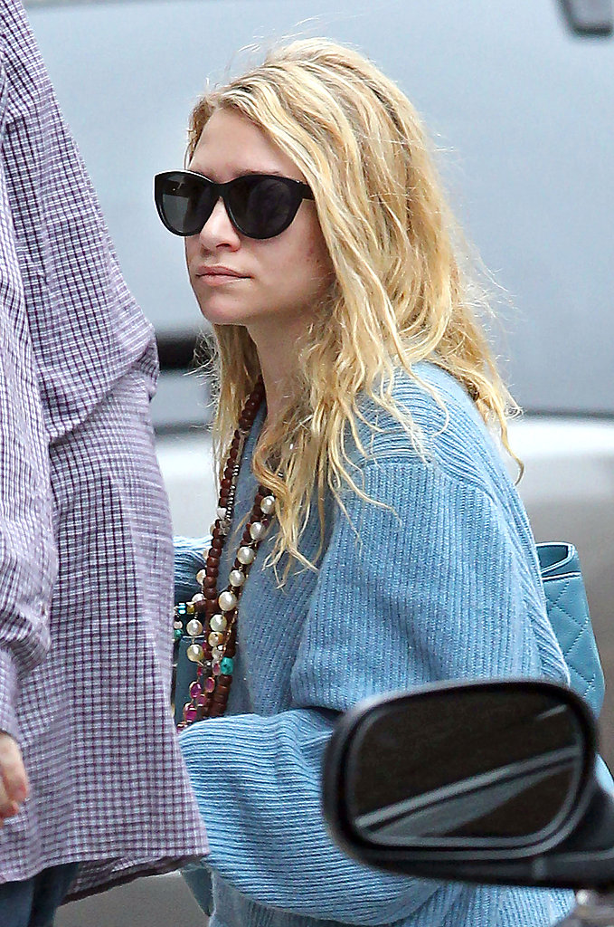 Ashley Olsen Sweeps Into Spring With Her Long Skirt
