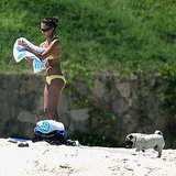 In August 2005, Jessica Alba dried off in her bikini during a trip to Mexico.