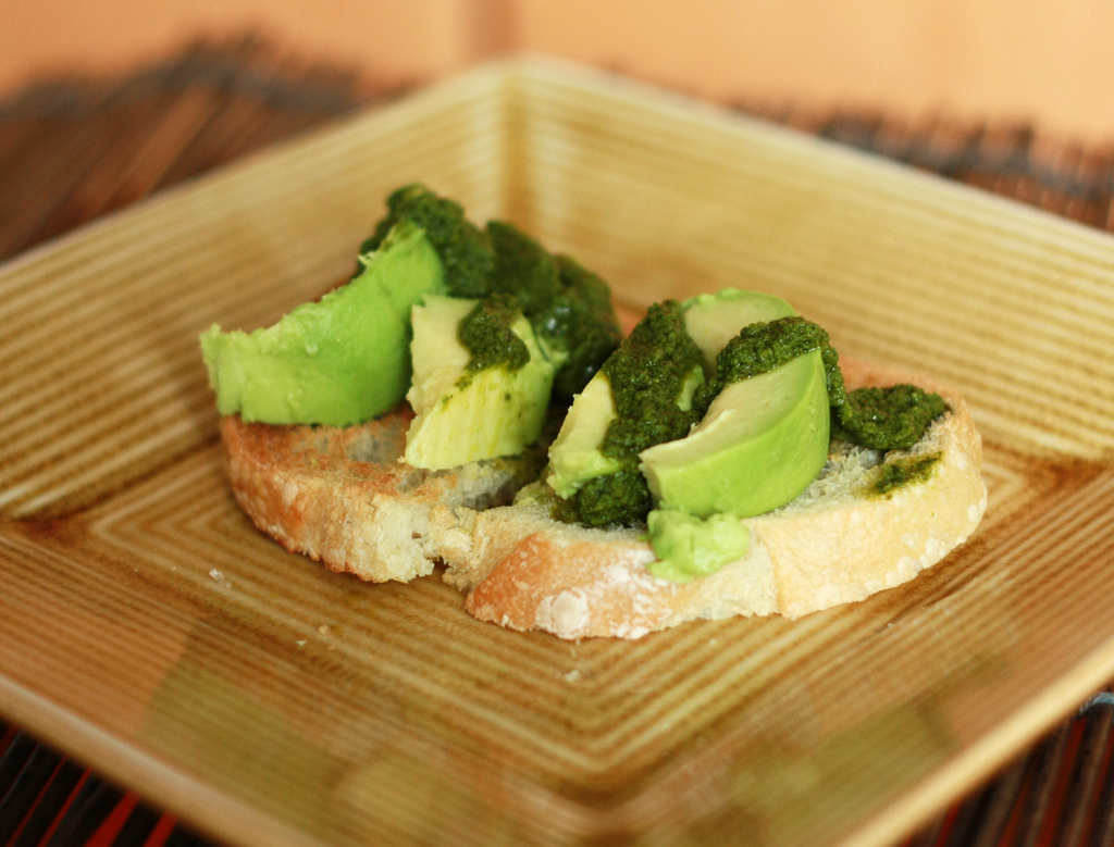 Avocado and Pesto Toast