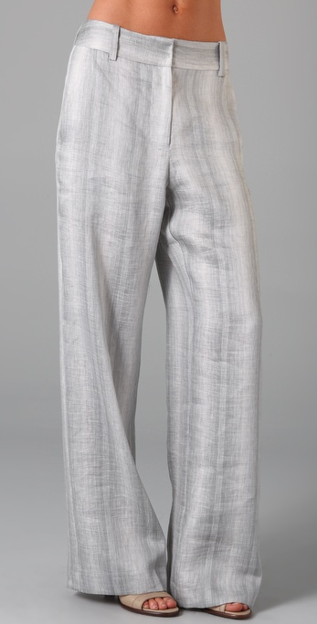 Richard Chai Love Wide Leg Striped Trousers ($298)