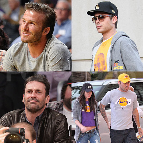 David Beckham, Zac Efron, Megan Fox, and John Hamm Watch the Lakers Win Game 5