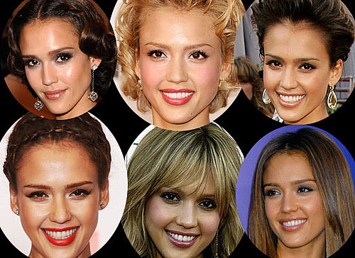 Photos of Jessica Alba's Hair and Makeup