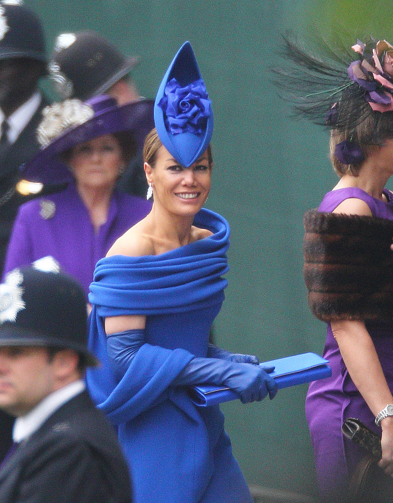 Tara Palmer-Tomlinson in Philip Treacy hat