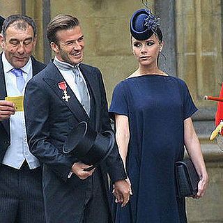 David and Victoria Beckham at Royal Wedding