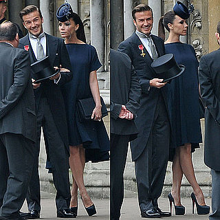David and Victoria Beckham at the Royal Wedding