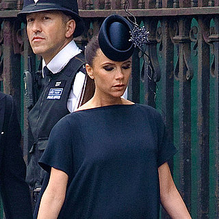 Pictures of Victoria Beckham Pregnant at Royal Wedding