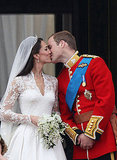 Will and Kate kiss after their wedding.