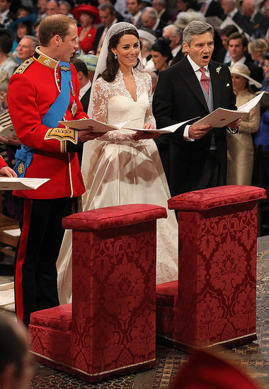 William couldn't keep his eyes off his beautiful bride, Kate.