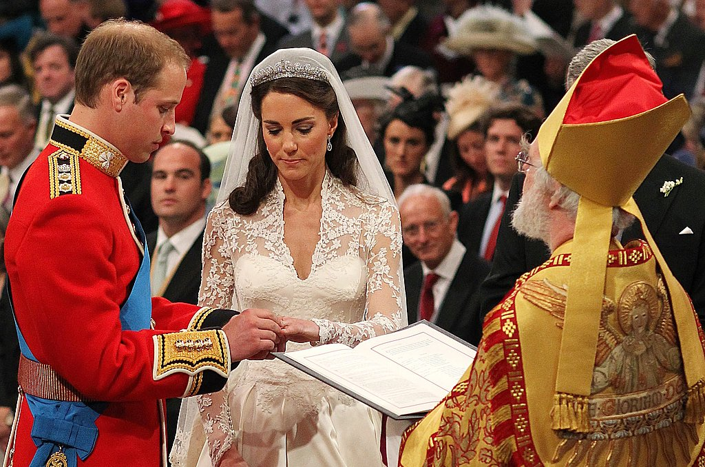 The Duke and Duchess of Cambridge exchanged rings.