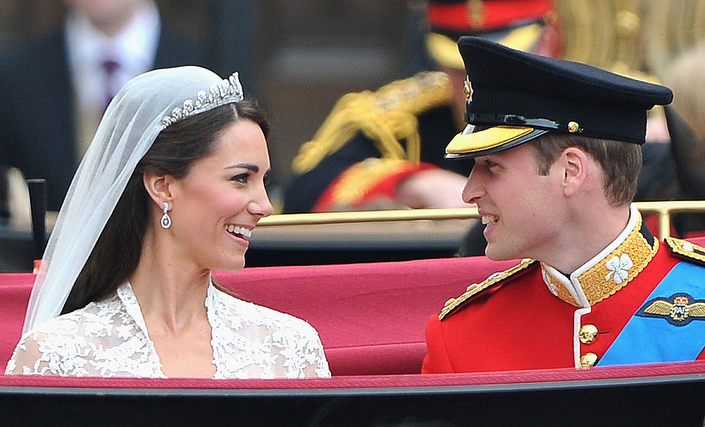 "The were so happy and relaxed as they made the trip to Buckingham Palace. William said, ""I hope I remember.  It's mad, it's mad! Oh my goodness it's really loudly here."""